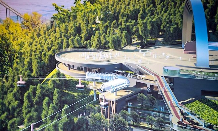 Началось строительство пешеходно-велосипедного моста между парками «Владимирская горка» и «Крещатый» 1