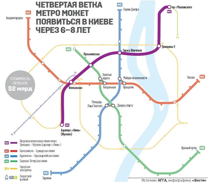 Проект будівництва метро на Троєщину мають підготувати у 2019 році-голова Деснянського району 4