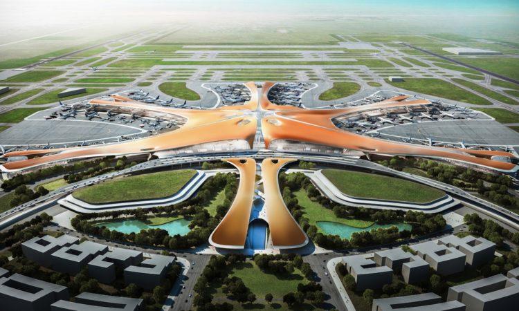 В Пекине построен огромный аэропорт с наибольшим мировым терминалом 1