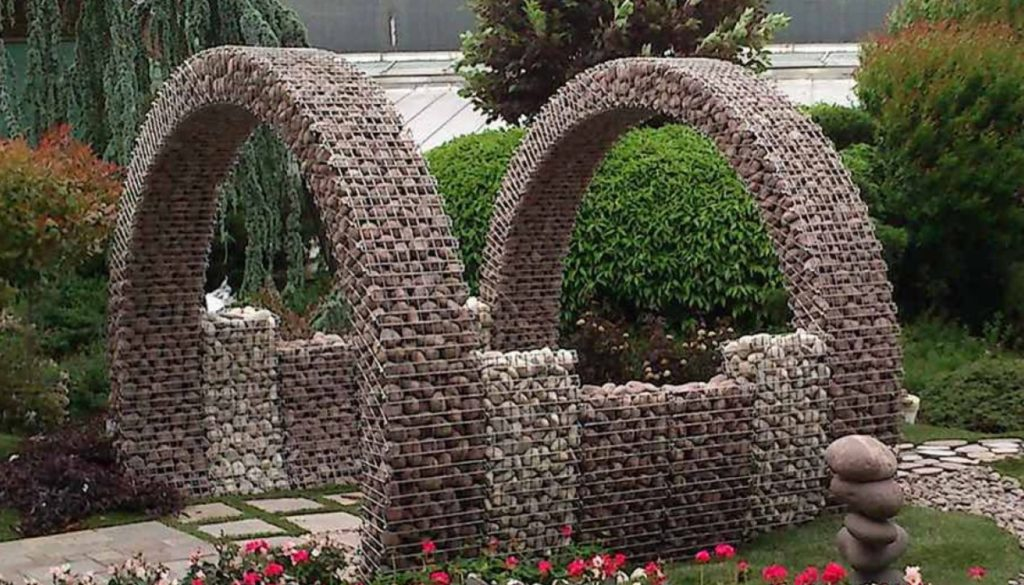Ландшафтный дизайн: используем габионы