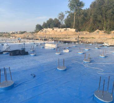 Гідроізоляція підземних споруд ПВХ мембраною 14
