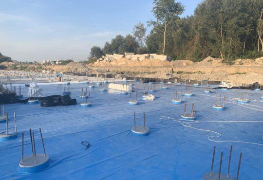 Гідроізоляція підземних споруд ПВХ мембраною 6