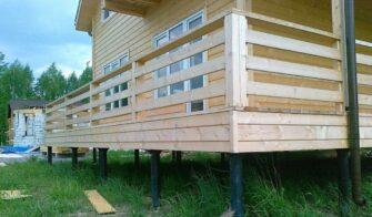 Дом на свайном фундаменте (Будинок на пальовім фундаменті)