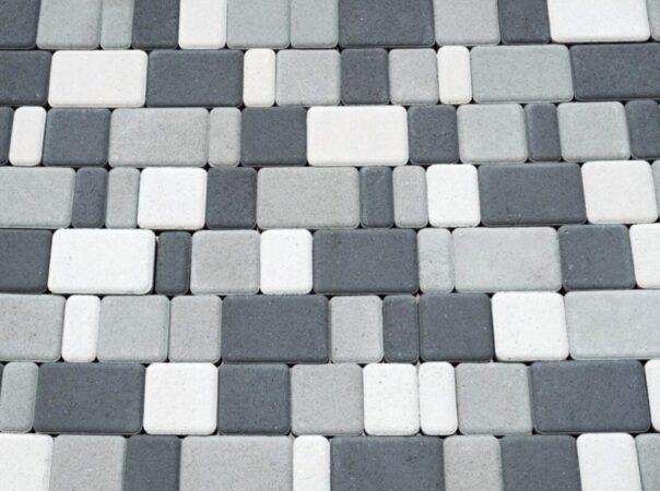 Тротуарная плитка «Старый город» (цвет — белый, серый, чёрный)
