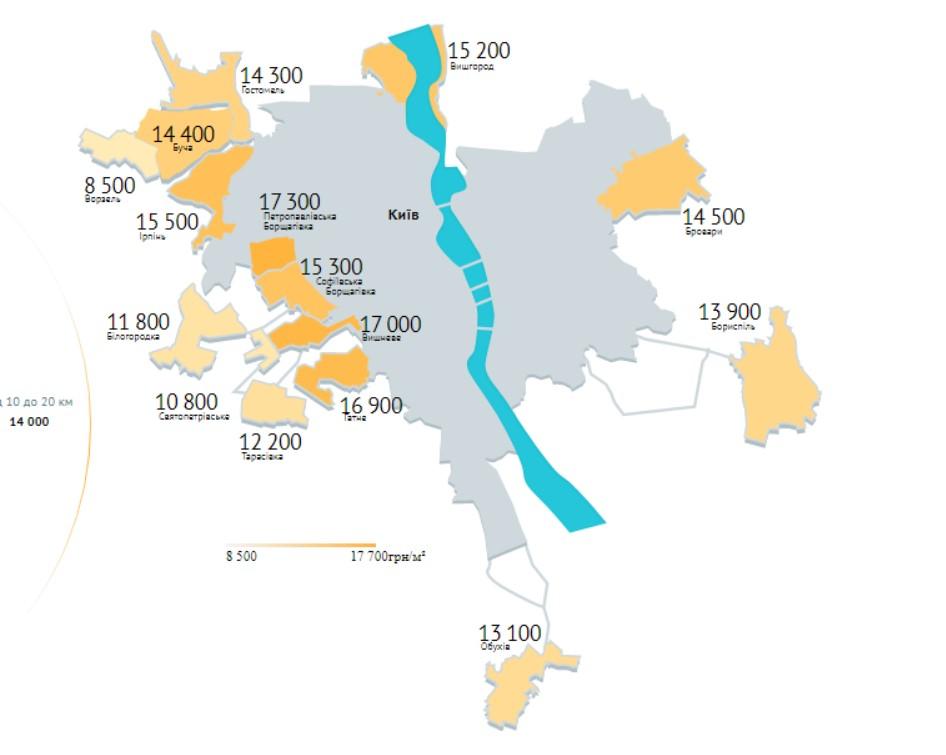 Цены на жилье в пригороде Киева. Ціни на житло в передмісті Києва. Новости недвижимости. Новини нерухомості