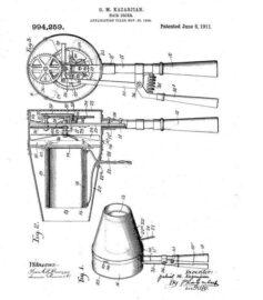 Чертеж фена (патент). Креслення фена (патент) 1911