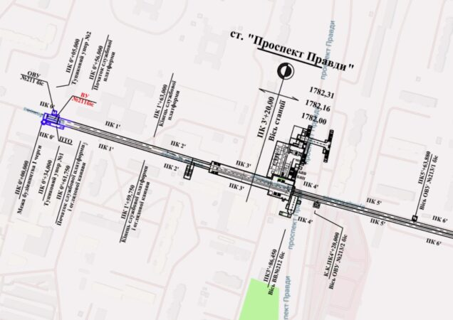 План станции Проспект Правды. План станції Проспект Правди