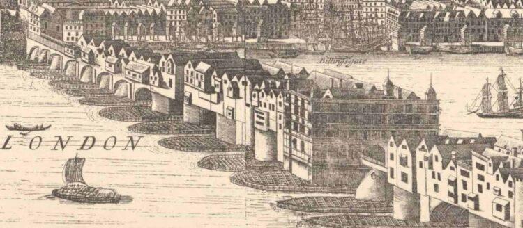 Старий лондонський міст (гравюра)