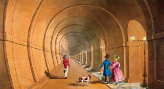 Тоннель Брюнеля после открытия (переходная зона)