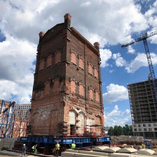 Транспортировка зданий целиком. Новости строительства. Транспортування споруд цілком. Новини будівництва