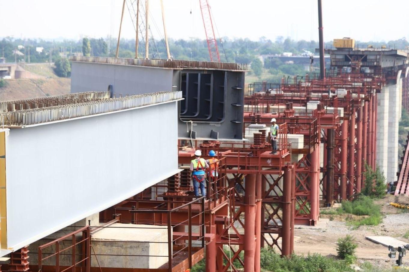 Мосты в Запорожье. Мости в Запоріжжі
