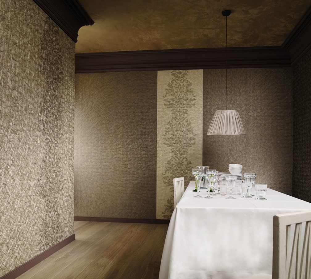 Текстильные обои Marburg Domotex New Style в интерьере