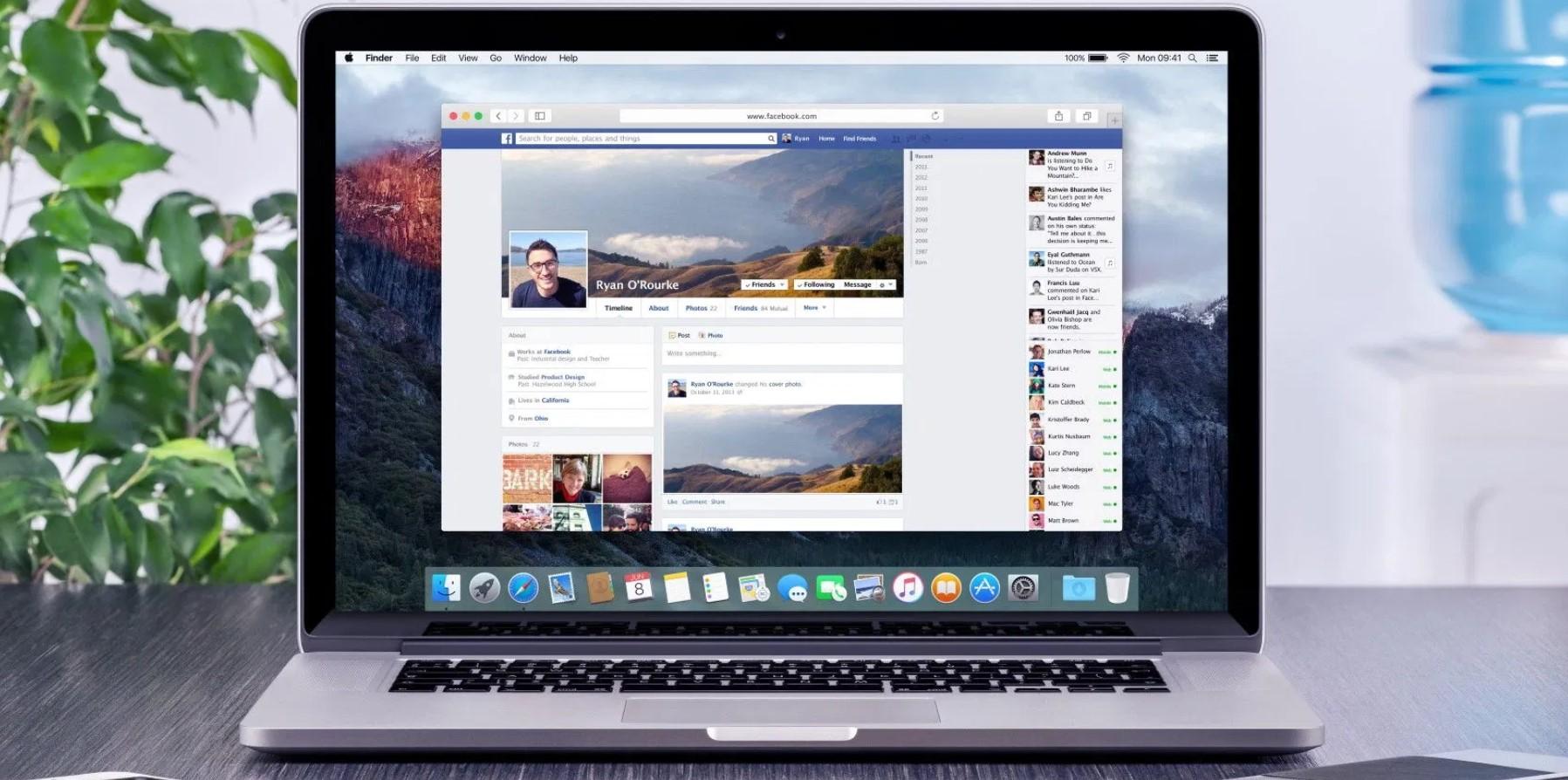 Новый дизайн Фейсбука. Новий дизайн Фейсбуку