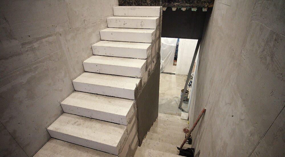 Лестница из газобетона. Сходи з газобетону