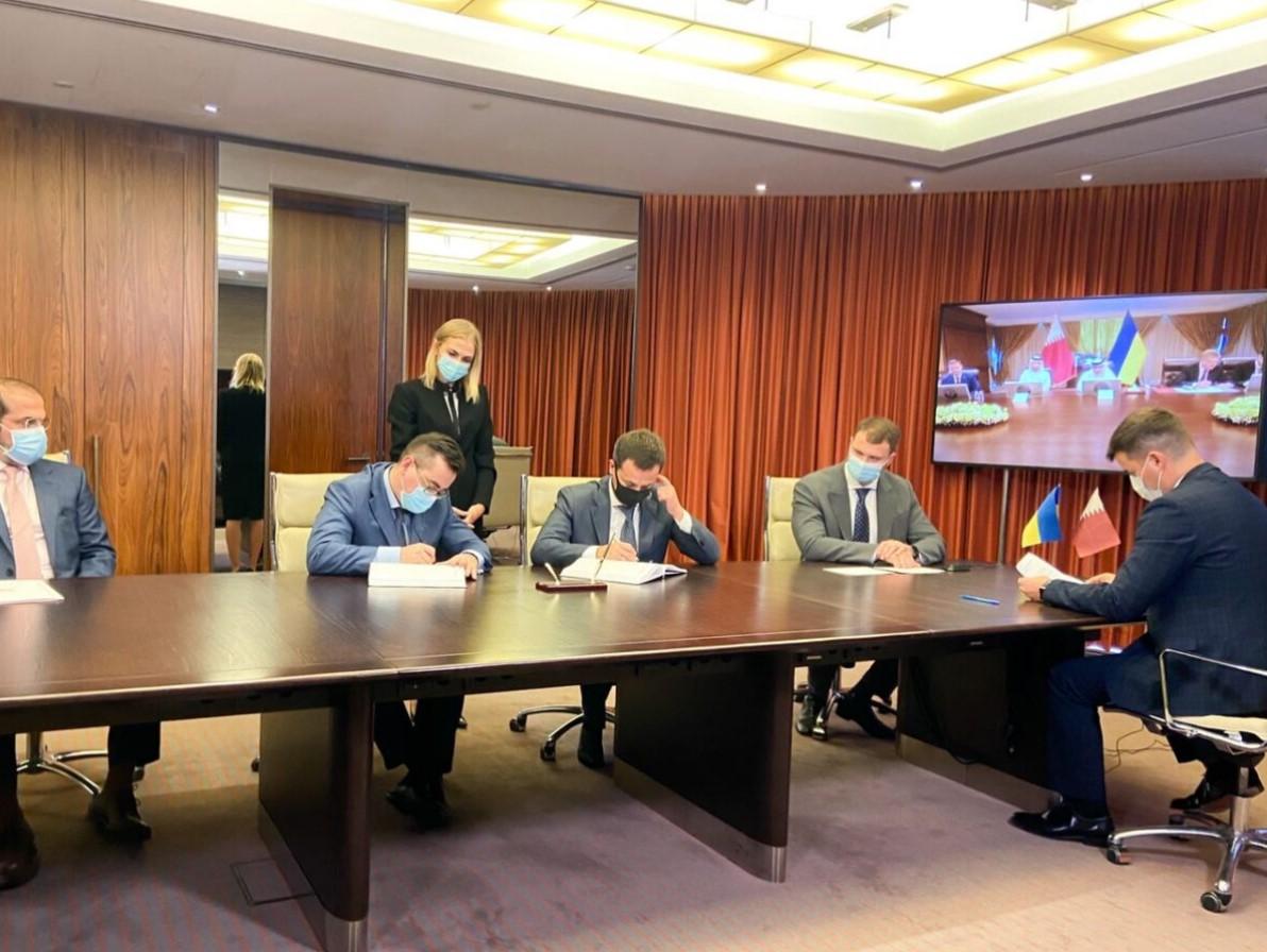 Підписання договору між Україною і Катаром