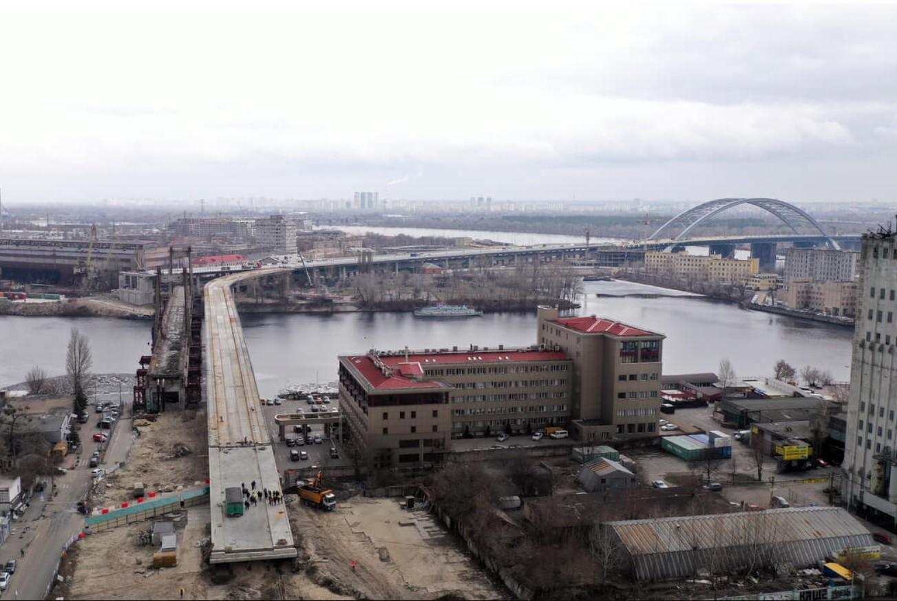 Строительство Подольско-Воскресенского моста. Будівництво Подільсько-Воскресенського мосту