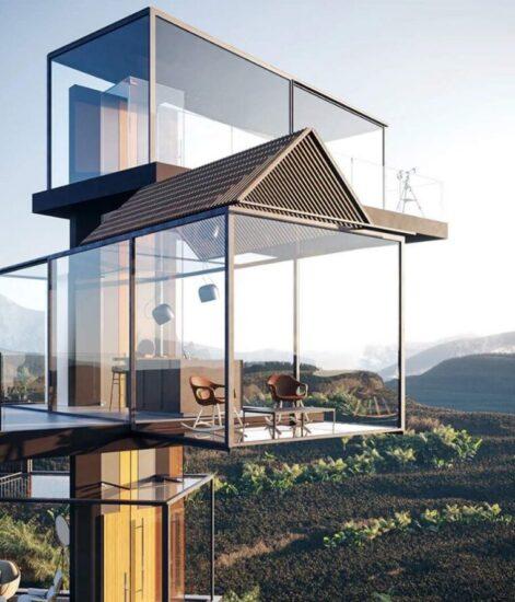 Необычный проект дома. Незвичайний проект будинку