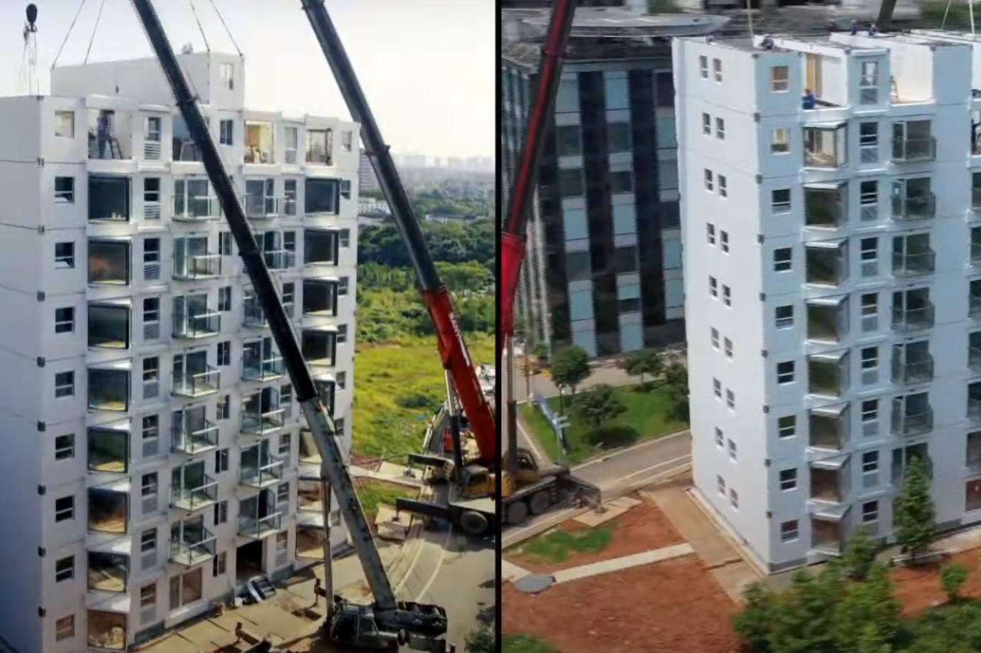 Строительство небоскреба. Будівництво хмарочосу
