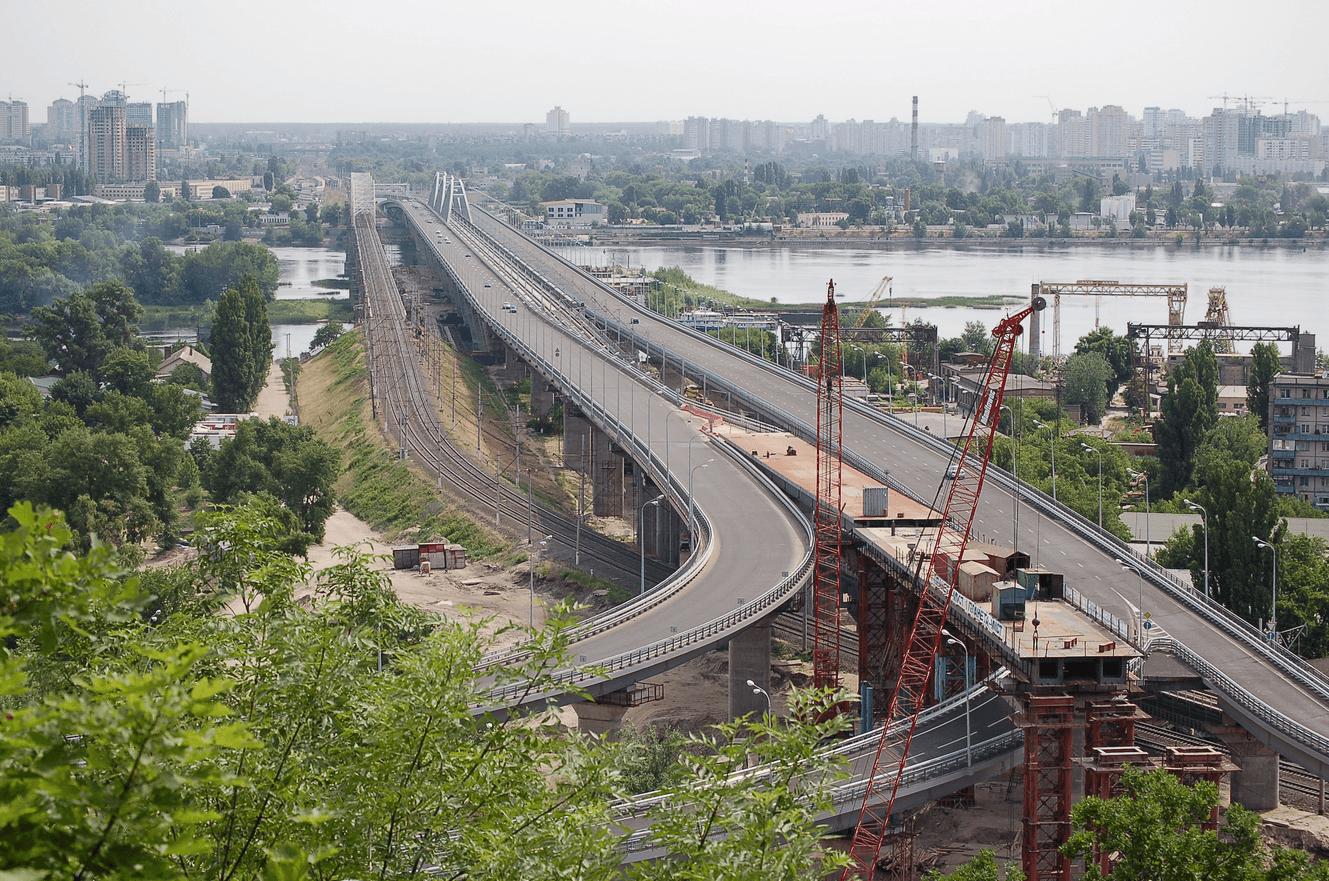 Строительство Дарницкого моста. Будівництво Дарницького мосту