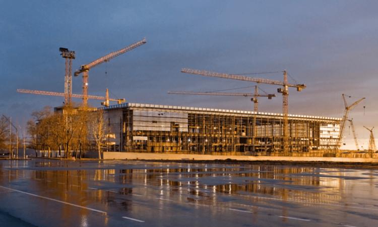 Строительство аэропорта. Будівництво аеропорту